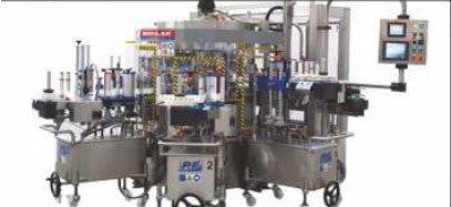 Etykieciarka modular top - karuzela z agregatami w wersji dla niskich i średnich wydajności