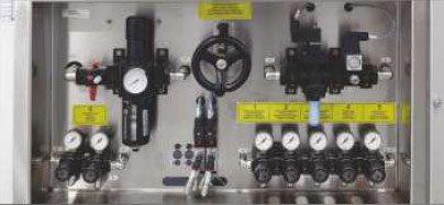 Etykieciarka rollmatic - centralny układ pneumatyczny